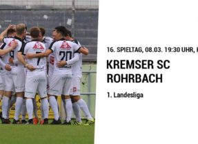 HEUTE! Kremser SC gegen Rohrbach – 19:30 Uhr